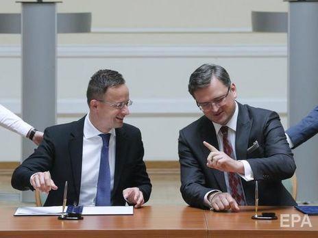 Кулеба: Сийярто поддержал мое предложение перевернуть страницу, на которой Украина и Венгрия недавно обменялись болезненными ударами