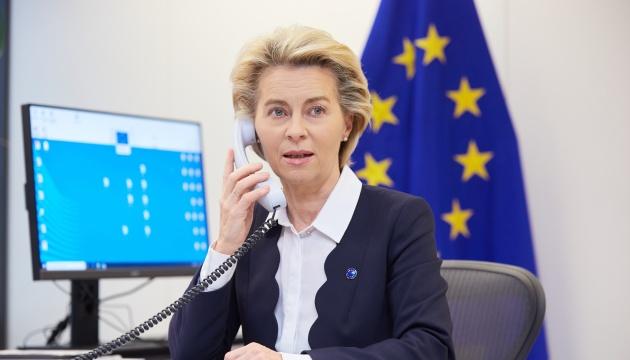 ЄС продовжить підтримувати Україну у боротьбі з пандемією COVID-19 – фон дер Ляєн