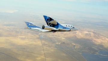 Космический корабль SpaceShipTwo впервые испытали с космопорта America