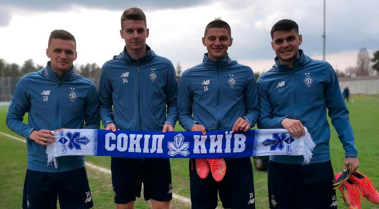 Один город, две легенды. Игроки «Динамо» и «Сокола» поддержали друг друга перед принципиальными матчами